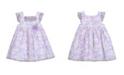 Laura Ashley Little Girls Ruffle Sleeve Party Dress