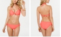 California Waves Juniors' Push-Up Halter Bikini Top & Lace-Up Hipster Bottoms, Created for Macy's