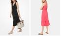 Michael Kors Tie-Shoulder Midi Dress, Regular & Petite