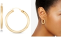 Signature Gold Diamond Accent Round Hoop Earrings in 14k Gold Over Resin, Created for Macy's