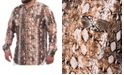 Mvp Collections By Mo Vaughn Productions MVP Collections Men's Big & Tall Python Print Button-Up Shirt