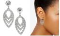 INC International Concepts INC Silver-Tone Crystal Orbital Petal Drop Earrings, Created for Macy's