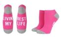 SOCK TALK Ladies' Low Cut Socks LIVIN MY BEST LIFE