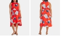 RACHEL Rachel Roy Trendy Plus Size Concetta Floral-Print High-Low Dress