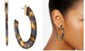 INC International Concepts INC Gold-Tone Tortoise-Look Open Hoop Earrings, Created for Macy's