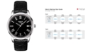 Tissot Men's Swiss Classic Dream Black Leather Strap Watch 38mm T0334101605301