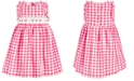 Bonnie Jean Toddler Girls Embroidered Gingham-Print Dress