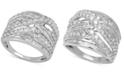Macy's Diamond Crisscross Statement Ring (2 ct. t.w.) in 14k White Gold