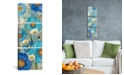 """iCanvas Sunkissed Blue and White Flowers I by Silvia Vassileva Gallery-Wrapped Canvas Print - 36"""" x 12"""" x 1.5"""""""