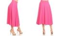 White Mark Flared Midi Skirt with Pockets