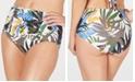 Calvin Klein Printed High-Waist Bikini Bottoms