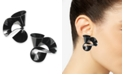 INC International Concepts INC Black-Tone Ribbon Stud Earrings, Created for Macy's