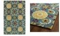 """Kaleen Global Inspirations GLB06-78 Turquoise 5' x 7'9"""" Area Rug"""