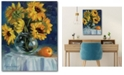 """Courtside Market Sunflower and Pear 16"""" x 20"""" Gallery-Wrapped Canvas Wall Art"""