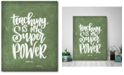 """Courtside Market Super Power 16"""" x 20"""" Gallery-Wrapped Canvas Wall Art"""