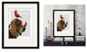 """Courtside Market Basset Hound and Birds 16"""" x 20"""" Framed and Matted Art"""