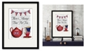 """Courtside Market English Tea Party 16"""" x 20"""" Framed and Matted Art"""