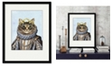 """Courtside Market Cat Queen 16"""" x 20"""" Framed and Matted Art"""