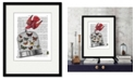 """Courtside Market Caged Butterfly 16"""" x 20"""" Framed and Matted Art"""
