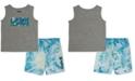 Hurley Little Boys 2-Pc. Graphic Tank & Tie-Dye Boardshort Set