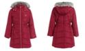 Calvin Klein Little Girls Aerial Hooded Jacket