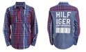 Tommy Hilfiger Toddler Boys Billy Logo-Print Plaid Twill Shirt