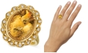 Le Vian Cinnamon Citrine (7-1/4 ct. t.w.) & Nude Diamonds (1/5 ct. t.w.) Statement Ring in 14k Gold