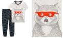 Carter's Toddler Boys 2-Pc. Cotton Raccoon-Print T-Shirt & Jogger Pants Set