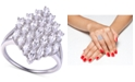 Macy's Cubic Zirconia Cluster Statement Ring in Sterling Silver