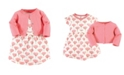 Touched by Nature Organic Cotton Dress and Cardigan Set, Tulip, 0-3 Months