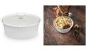 Corningware French White 1.5-Qt. Round Casserole with Glass Lid