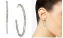 Macy's Charter Club Silver-Tone Crystal Hoop Earrings, Created for Macy's