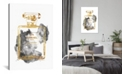 "iCanvas Perfume Bottle, Gold & Grey by Amanda Greenwood Wrapped Canvas Print - 40"" x 26"""