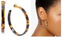 "Zenzii Medium Gold-Tone & Acetate Thin Open Hoop Earrings 2"""