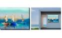 """West of the Wind Cerulean Sea Indoor/Outdoor Art, 40"""" x 30"""""""