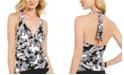 Lauren Ralph Lauren Graphic Paisley Tummy-Control Halter Tankini Top