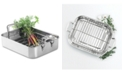Martha Stewart Collection CLOSEOUT! Open Rectangular Roaster with Stainless Steel Handles, Created for Macy's