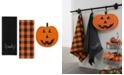 Elrene Farmhouse Living Jack-o-Lantern Pumpkin Pot Holder and Kitchen Towels, Set of 3