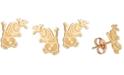 Disney Children's Frozen Olaf Stud Earrings in 14k Gold