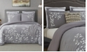 Cathay Home Inc. Laurel Park Autumn Chain Embroidered Cotton Queen Comforter Set