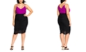 City Chic Trendy Plus Size Ruched Skirt