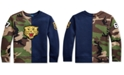 Polo Ralph Lauren Little Boys Fleece Tiger Half-Camo Knit Sweatshirt