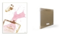 "Stupell Industries Glam Perfume Bottle Splash Pink Gold Wall Plaque Art, 12.5"" x 18.5"""