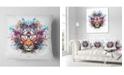"Design Art Designart Colorful Tiger In Glasses Animal Throw Pillow - 18"" X 18"""