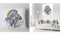 "Design Art Designart Zebra Watercolor Leftwards Animal Throw Pillow - 18"" X 18"""
