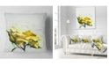 "Design Art Designart Yellow Rose Illustration Watercolor Floral Throw Pillow - 18"" X 18"""