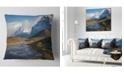 "Design Art Designart Beautiful View Of Torres Del Paine Beach Throw Pillow - 18"" X 18"""
