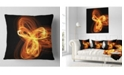 "Design Art Designart Fractal Fire Pattern Painted In Air Abstract Throw Pillow - 16"" X 16"""