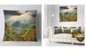 "Design Art Designart Slovakia Spring Forest Mountain Landscape Printed Throw Pillow - 16"" X 16"""