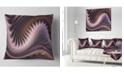 """Design Art Designart Purple Waves Fractal Wall Art Abstract Throw Pillow - 18"""" X 18"""""""